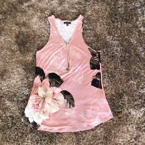 Dynamite pink floral camisole